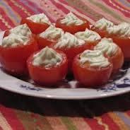 Tomato & Garlic Stuffed Cherry Tomatoes